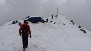 Triund top during winters trek