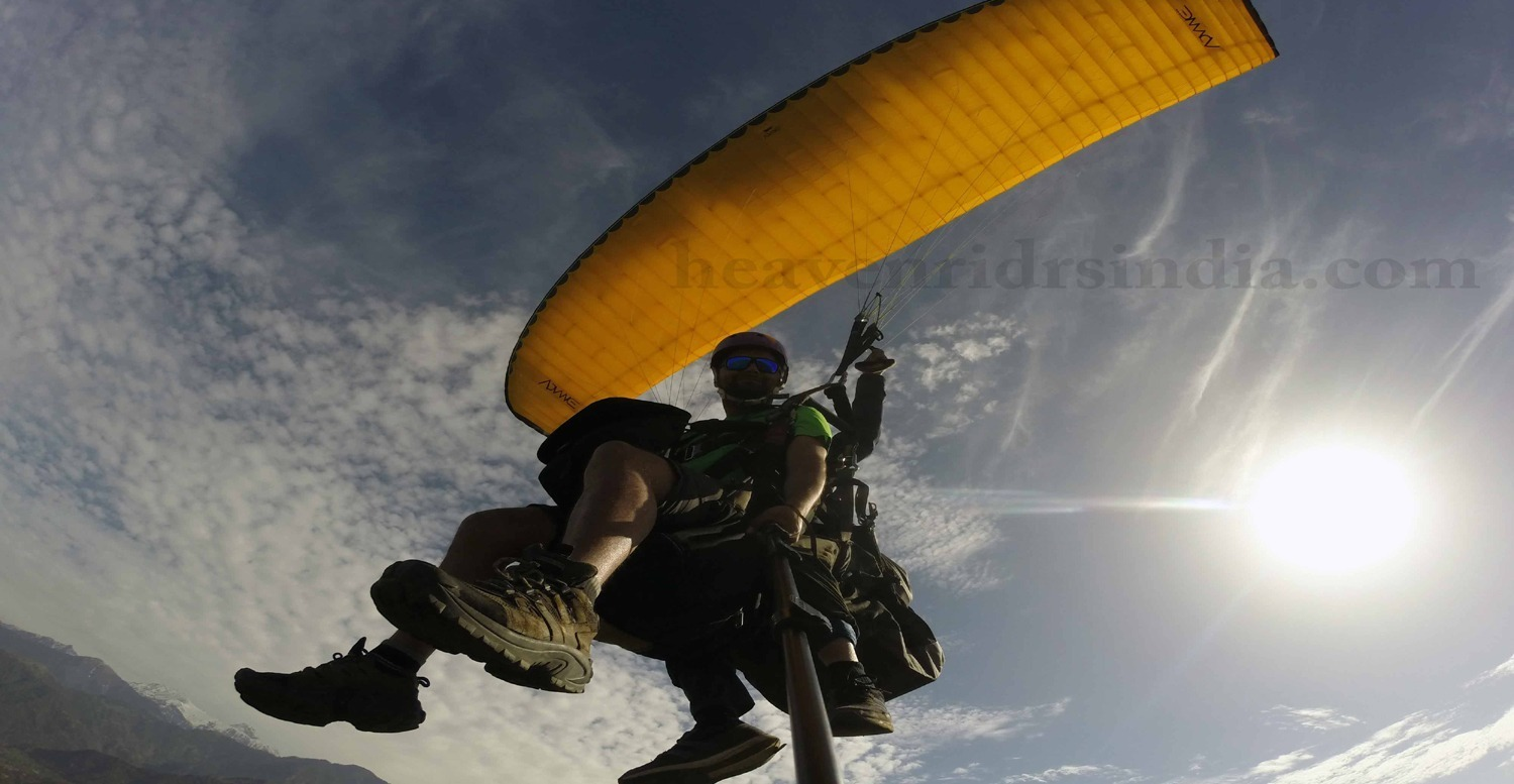 Paragliding trip with Heaven Riders India